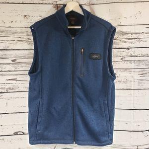 Greg Norman Tasso Elba Navy Full Zip Sweater Vest